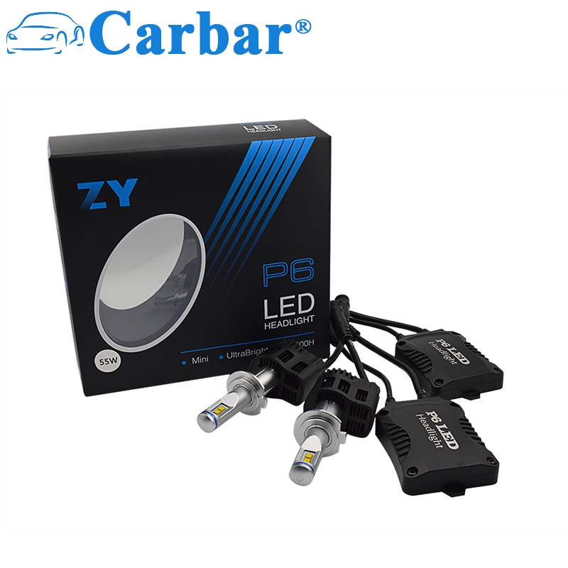 Carbar 2 Adet P6 H7 LED Far Ampuller H7 All-in-One Dönüşüm Kiti LED Farlar H7 110 W 10400LM/set Yüksek Güç LED Ampul